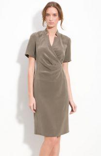 Lafayette 148 New York Short Sleeve Silk Dress (Petite)