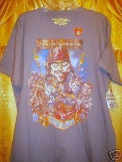 Disney Pirates of The Caribbean Shirt Jack Davi Will