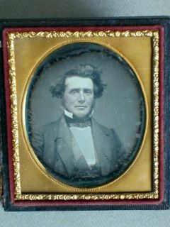 handsome dapper wild hair man daguerreotype photo