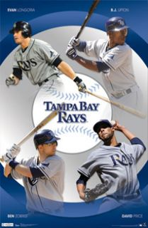 tampa bay rays poster david price zobrist longoria