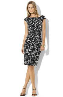 Lauren by Ralph Lauren Novella Matte Jersey Sheath Dress