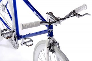 Pure Fix Cycles Fixed Gear Fixie Bike Bicycle Blue White Wheel The