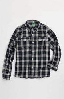 United Colors of Benetton Kids Western Plaid Shirt (Big Boys)