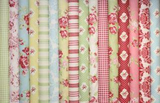 Darla Blush Pink Red Roses Tanya Whelan TW21 Fabric 1 2