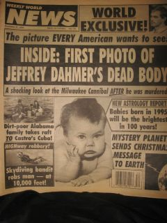 Weekly World News Dec 1994 Dahmers body! Mystery Planet sends message
