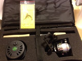 Crystal River Fly Spin Fly Fishing Combo Rod Reels Case with EXTRAS