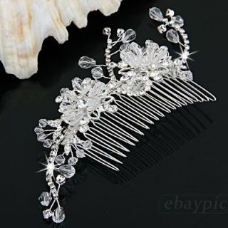 Rhinestone Crystal Jewelry Bridal Party Hair Comb New Hot