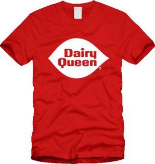 Retro Dairy Queen T Shirt Logo Vintage Ice Cream Sundae Fudge New All