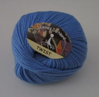 10 Balls Blue Laines Du Nord Twist Merino Wool Knitting Yarn Color 31