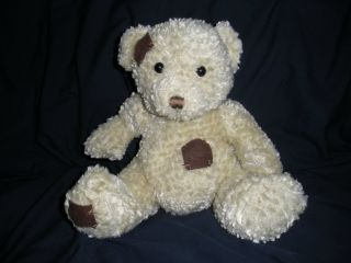 Plush Cuddly Brown Teddy Bear Toy with Patches 10 Plush Cuddly Brown