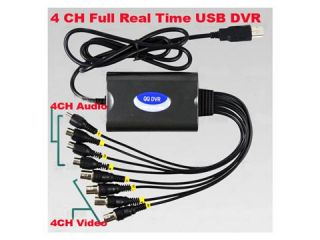 4CH USB DVR Video Audio FULL Real time Capture Card Windows 7 64 Bits
