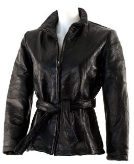 Dakota Leather Co. Ladies Patchwork Genuine Leather Biker / Motorcycle