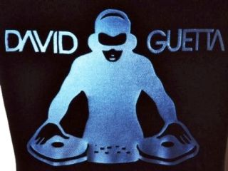 David Guetta Adult Black T Shirt Denim Effect s XXL