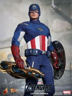 Hot Toys The Avengers 2012 Captain America Chris Evans Marvel 1 6 New