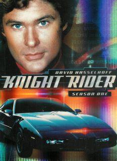 Knight Rider The Complete Season 1 One David Hasselhoff 4 Disc DVD Box
