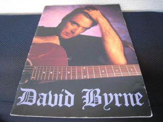 David Byrne 1992 Japan Tour Book Concert Program Talking Heads