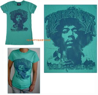 New Junk Food T Shirt Jimi Hendrix Bold as Love RARE L