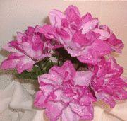 Dahlia Flowers Lavender Silk Flower Bush Wedding Bridal Bouquet