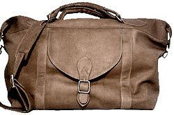 David King Leather Duffel Sport Bag Travel Luggage