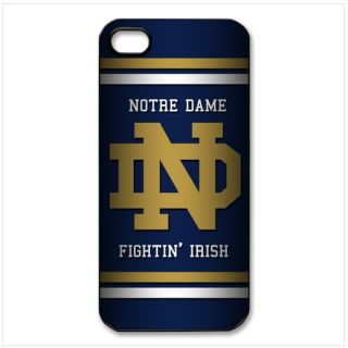 notre dame fighting irish on iPhone 5 black plastic hard case cover