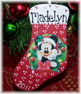 PERSONALIZED Name KIDS CHRISTMAS Holiday ORNAMENT Disney ANY COLOR