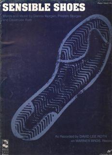 Sheet Music Sensible Shoes David Lee Roth 123