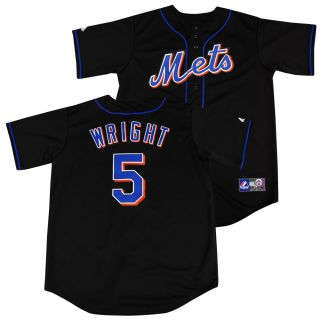 New York Mets David Wright Black Sewn Jersey XXL