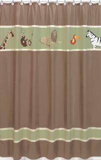 JoJo Designs Jungle Adventure Kid Fabric Shower Curtain