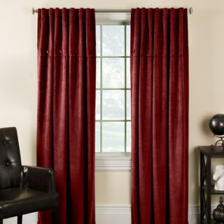 Red Corduroy Curtains Drapes 84 Window Treatment Panel Attached