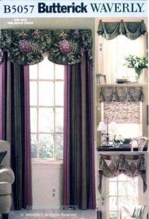 Pattern B5057 VALANCES DRAPES panels curtains Window Treatment 5057