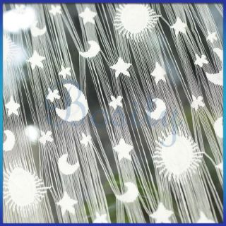 Fringe Door Window Panel Room Divider Decor String Curtain Moon Star