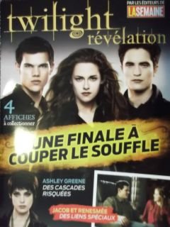 BREAKING DAWN part 2 magazine RARE FRENCH Robert Pattinson Kristen