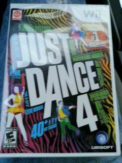 New Just Dance 4 Nintendo Wii Game Factory SEALED Original USA Version