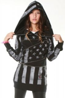 Abbey Dawn Rockstar BFH Zip Hoody Black XL Women