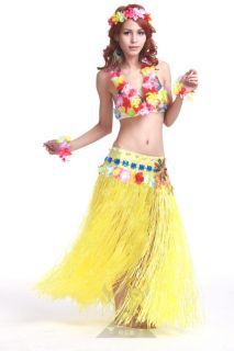 Hula Suit Clothes Masquerade Party Performing 6pcs Dance Dress