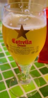 Estrella Damm Tulip Shape Spanish Beer Glass Collectible