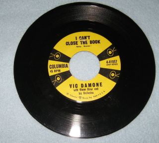 RPM Record I CanT Close The Book and Junior Miss by Vic Damone