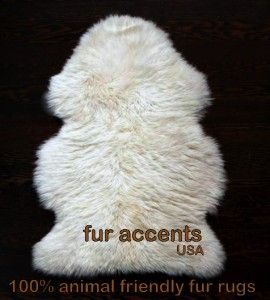 Faux Fur Rug Bear Pelt Sheepskin Accent Rugs Coyote Wolf Shag Throw