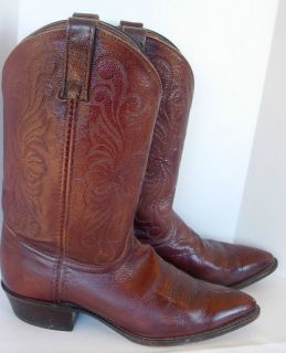 Womens Dan Post Brown Leather Cowboy Western Boots Sz 7 5