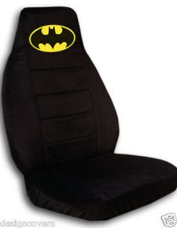 CUTE car seat covers in black with yellow batman high quality