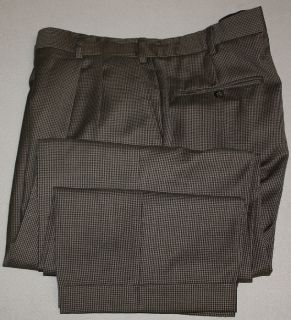 Daniel Gray Travel Concepts Microhoundstooth Suit 44R Lined Cuffed