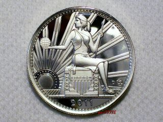 Daniel Carr 2011 D 20 AMEROS Seated Liberty UNA Proof Like Silver