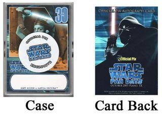 Star Wars Fan Days Topps 30th Autograph Promo Card Set