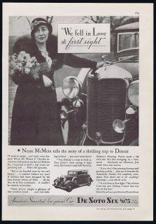 1932 DeSoto Six Car Neysa McMein Love de Soto Print Ad