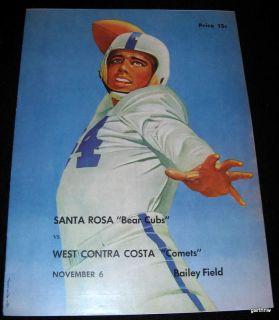 Santa Rosa Junior College 1953 Football Program vs West Contra Costa