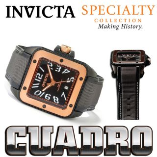 Invicta Mens Watch Specialty CUADRO Quartz Stainless Steel Case Strap
