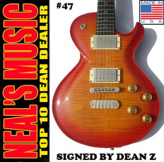 Dean Soltero USA Custom Flametop 47 Guitar Signed Dean Z Gibson Guitar