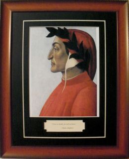 dante alighieri italian poet quote portrait framed dante dante