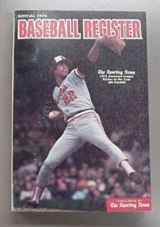 1976 The Sporting News Baseball Register Jim Palmer