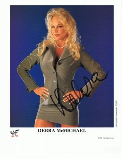 Debra McMichael WWE WWF Auto Promo Signed Autograph 499